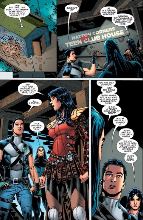 Donna Troy at the Teen Titans clubhouse