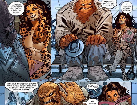 Cheetah gives Clayface some advice
