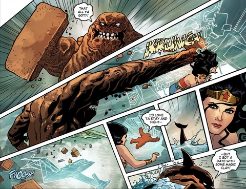 Clayface crashes the invisible jet