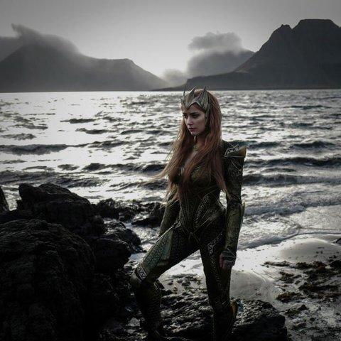 Amber Heard as Mera in Justice League
