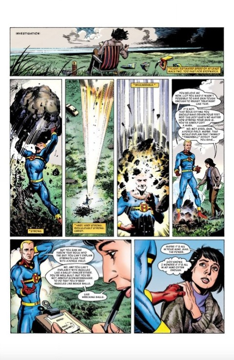 Miracleman tests his powers