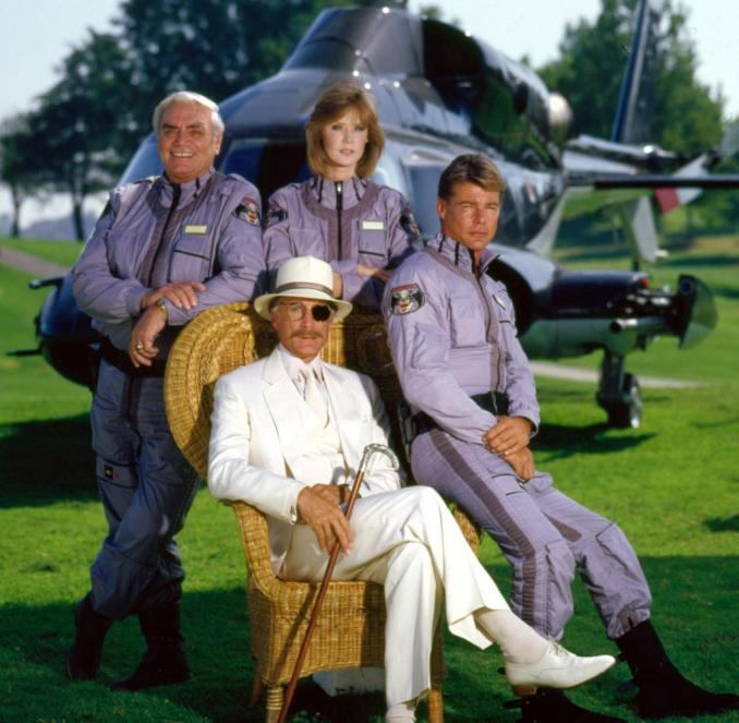 The cast of Airwolf