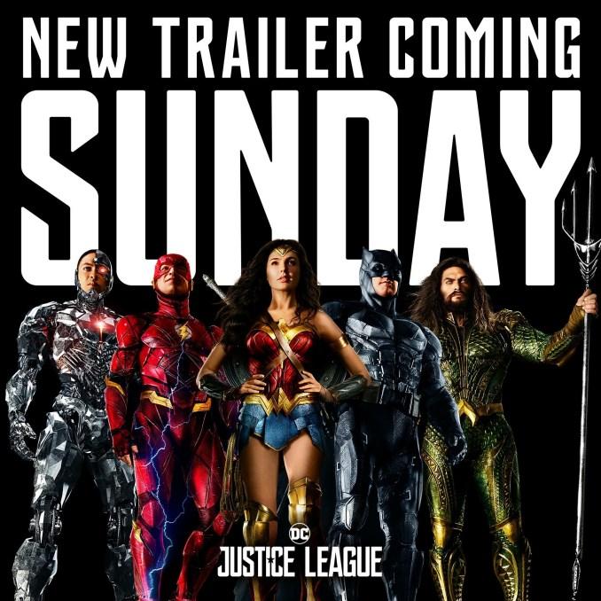 Justice League Trailer on Sunday