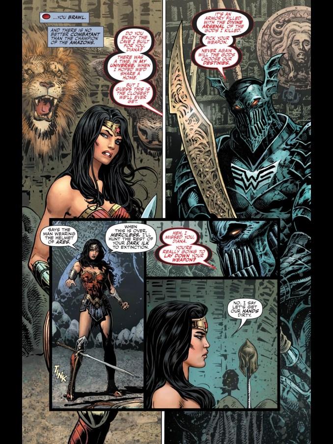 Metal Batman and Diana
