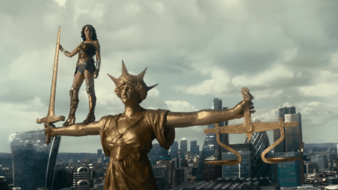 Wonder Woman on the Old Bailey