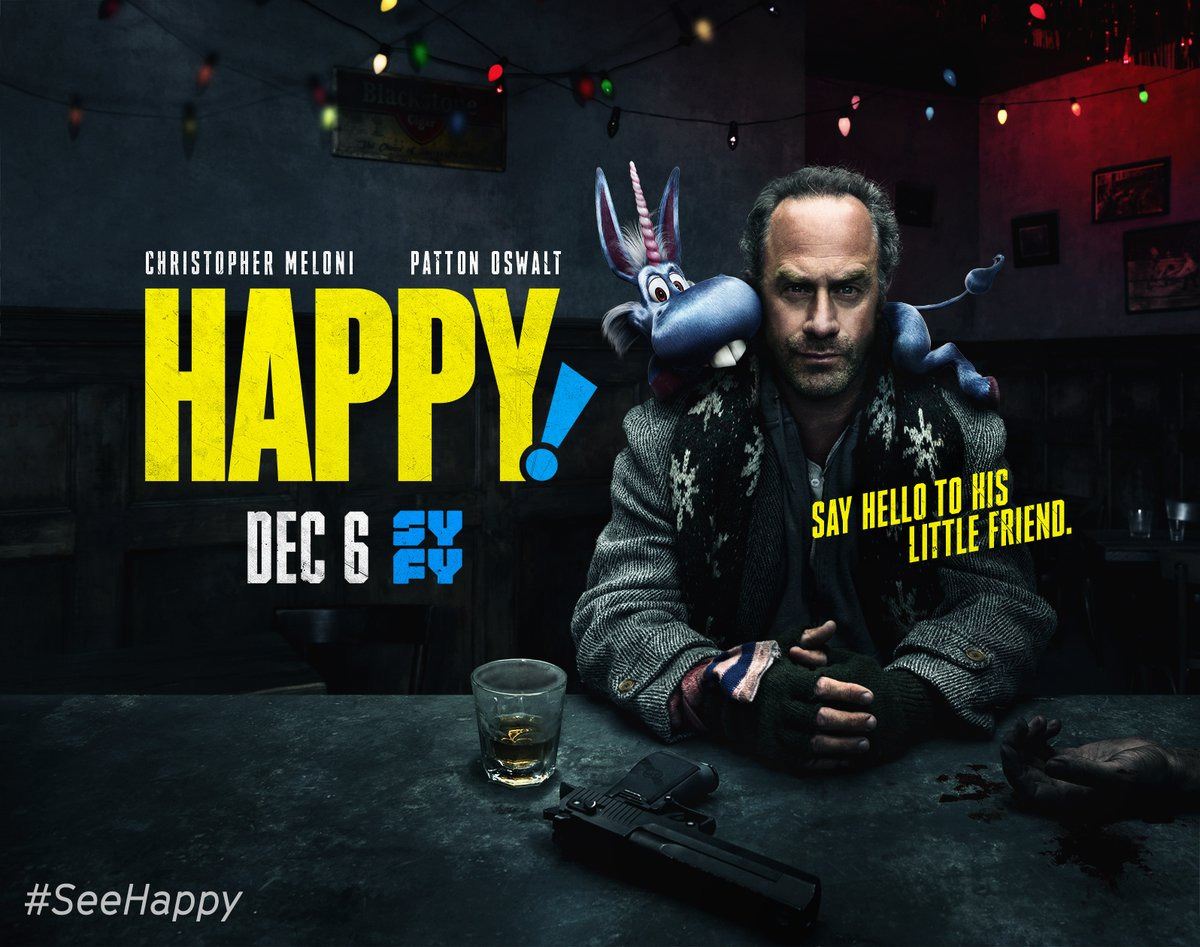 Review: Happy! 1x1 (US: Syfy; UK: Netflix)