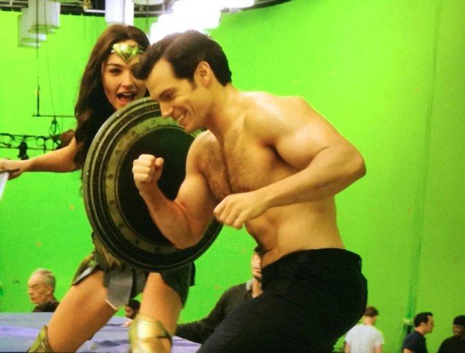 Green screen Wonder Woman/Superman