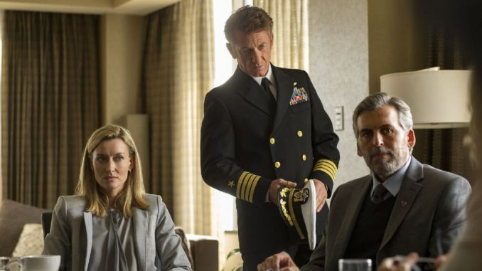 Natascha McElhone, Sean Penn and Oded Fehr in The First