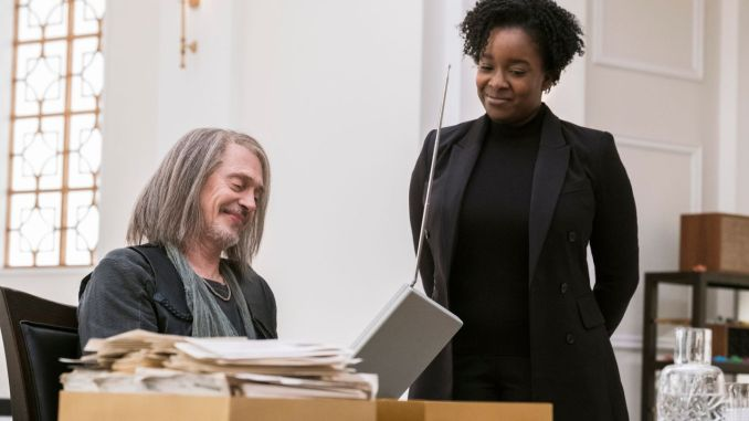 Steve Buscemi and Lolly Adefope in Miracle Workers