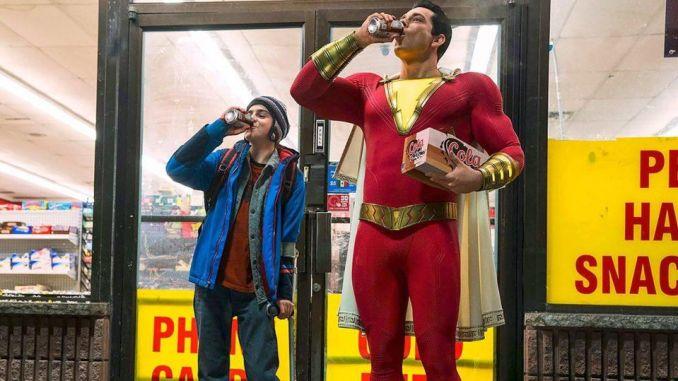 Jack Dylan Grazer and Zachary Levi in Shazam!