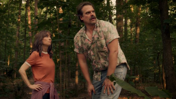 Joyce And Hopper in Stranger Things