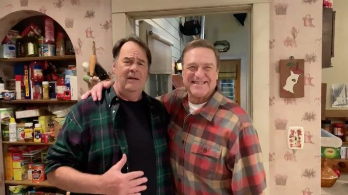 Dan Aykroyd and John Goodman on ABC's The Conners