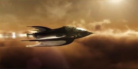 Buck Rogers spaceship