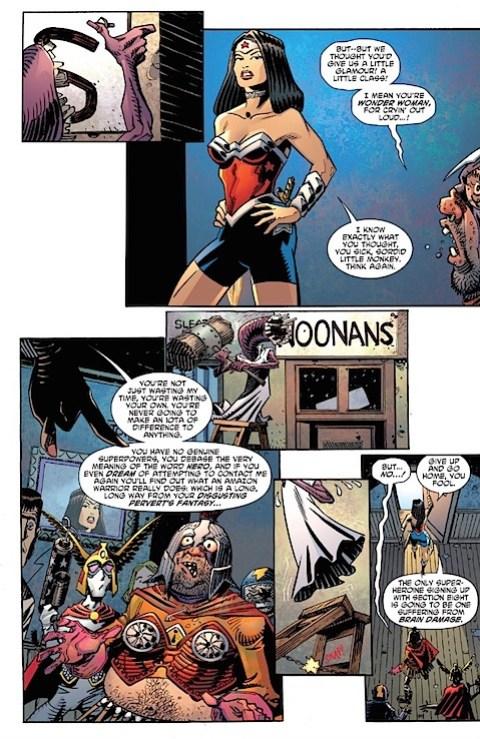 Wonder Woman in cycling shorts
