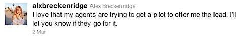 Alex Breckenridge's second tweet