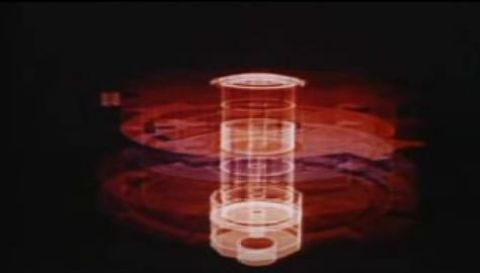 Douglas Trumbull's faux computer graphic representation of Wildfire in The Andromeda Strain