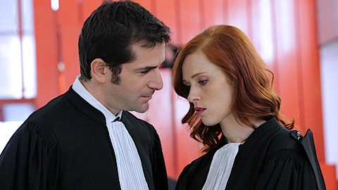 Audrey Fleurot and Grégory Fitoussi in season 4 of Engrenages
