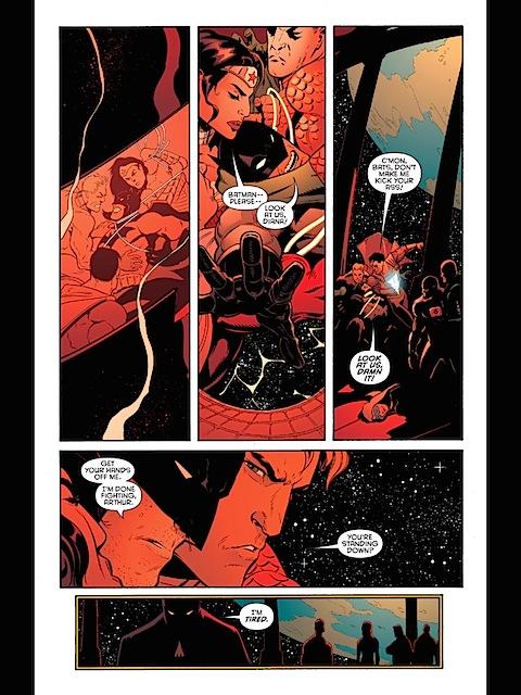Wonder Woman subdues Batman