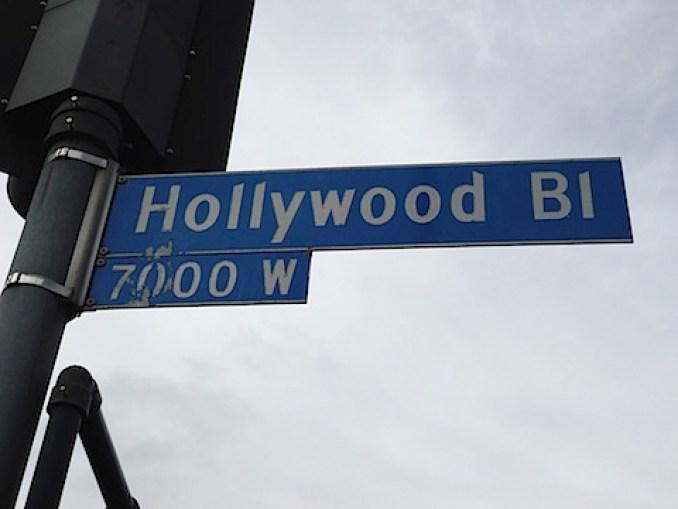 Hollywood Bl street sign