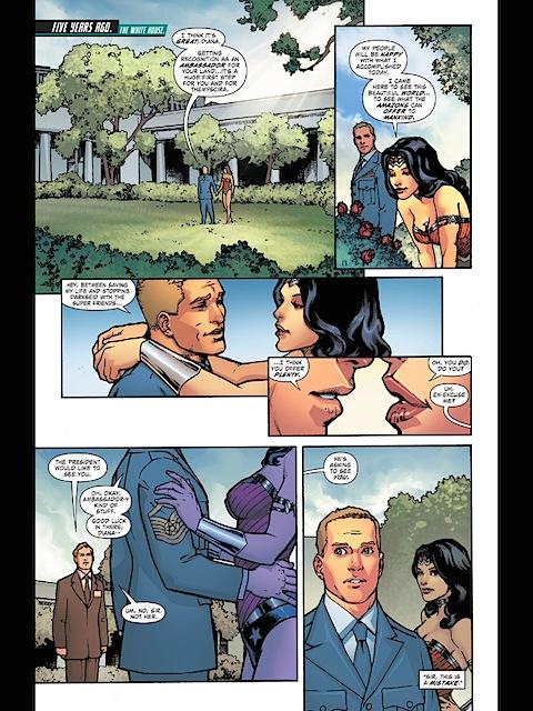 Wonder Woman in the Rose Garden