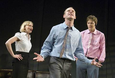 Joanna Page, Kris Marshall, and Robert Webb in Fat Pig