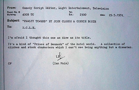 The Fawlty Towers memo