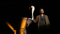 The Doctor with Olympic torch