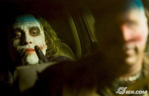 The Dark Knight, with Heath Ledger