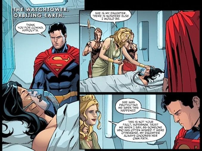 Hippolyta visits Diana in hospital
