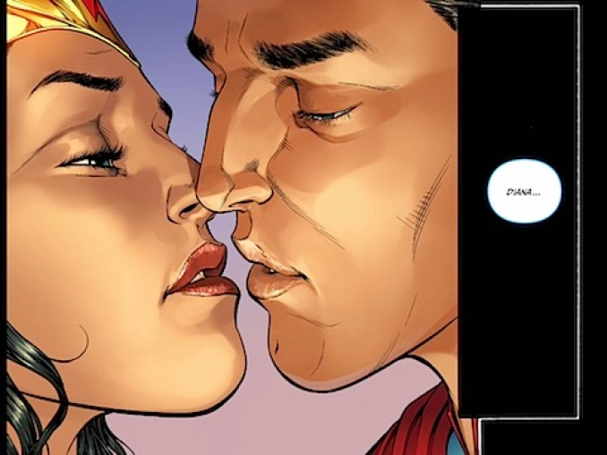 Diana and Clark kiss