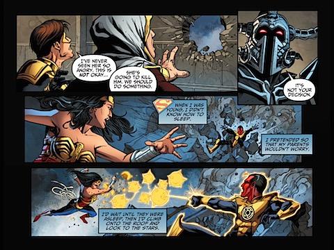 Diana clobbers Sinestro