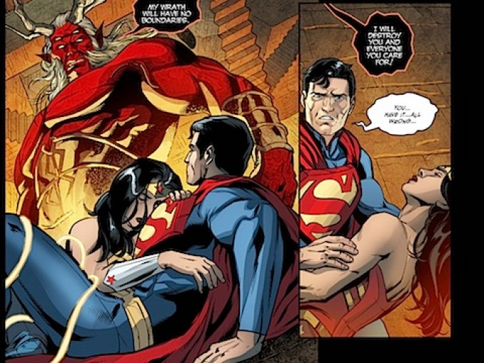 Superman and Wonder Woman clobbered