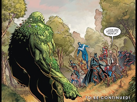 Swamp Thing arrives