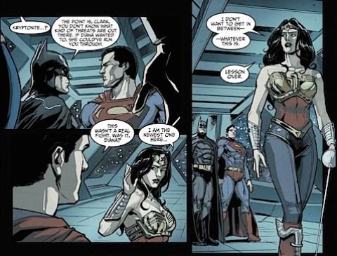 Wonder Woman leaves