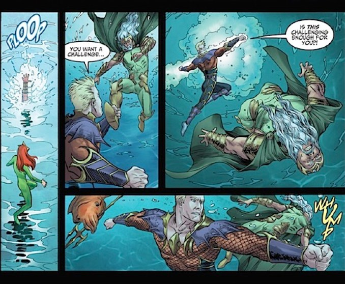 Aquaman rescues Mera