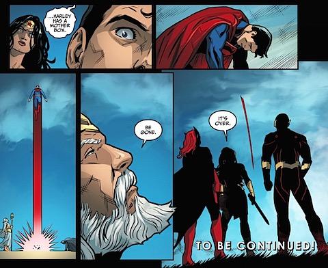 Superman leaves Earth