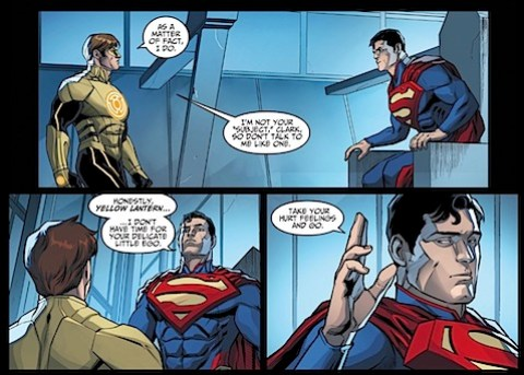 Clark's being a dick