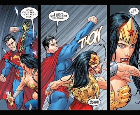 Superman punches