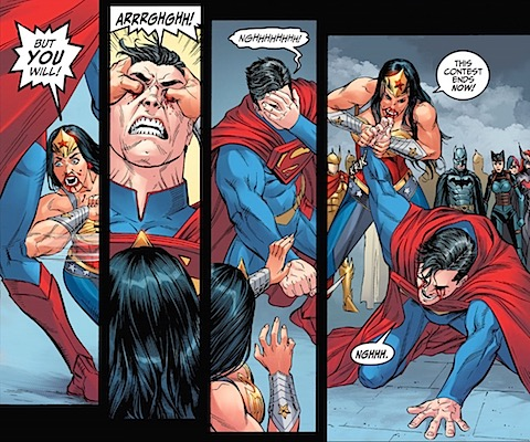Wonder Woman plays rough
