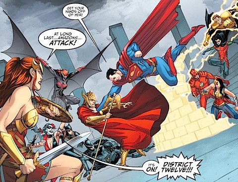Hermes and Superman fight