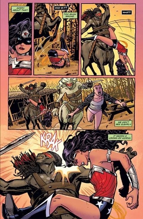 Wonder Woman kicks centaur ass