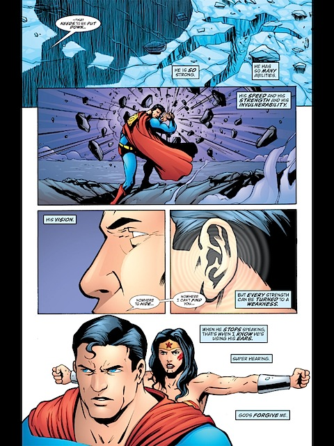 Wonder Woman beats up Superman