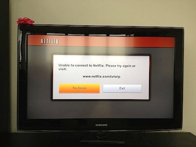 Netflix on Wii error message