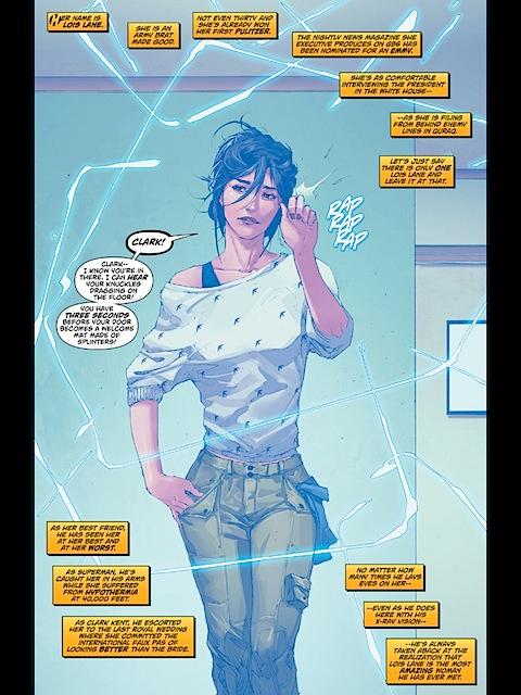 Lois Lane arrives