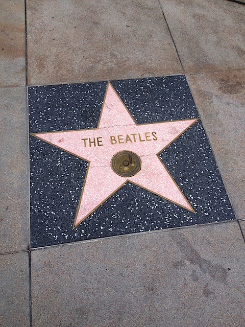 The Beatles Hollywood Walk of Fame star