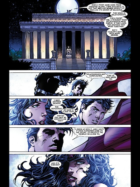 Wonder Woman talks to Clark about relationships