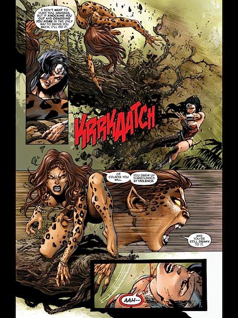 Wonder Woman and Cheetah fight