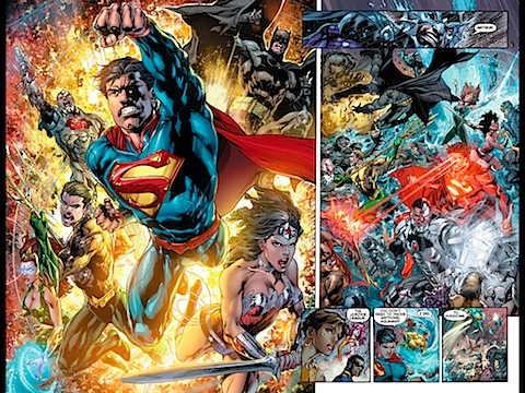 The Justice League fight the Atlanteans