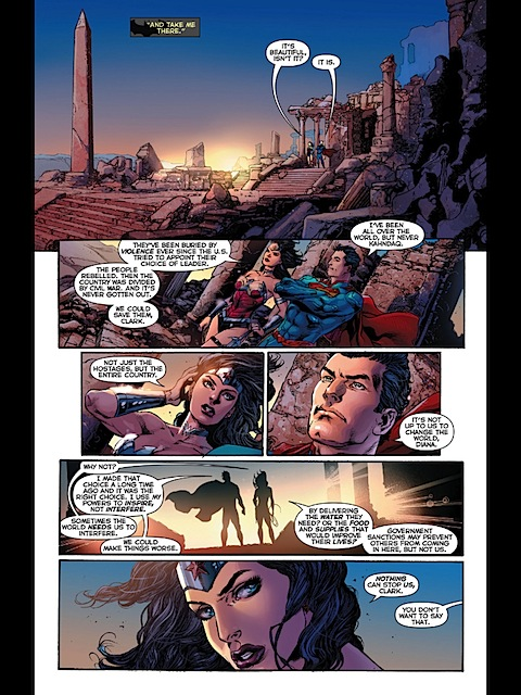 Wonder Woman and Superman chat