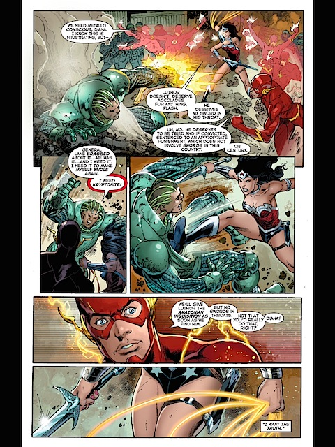 Wonder Woman beats up Metallo some more